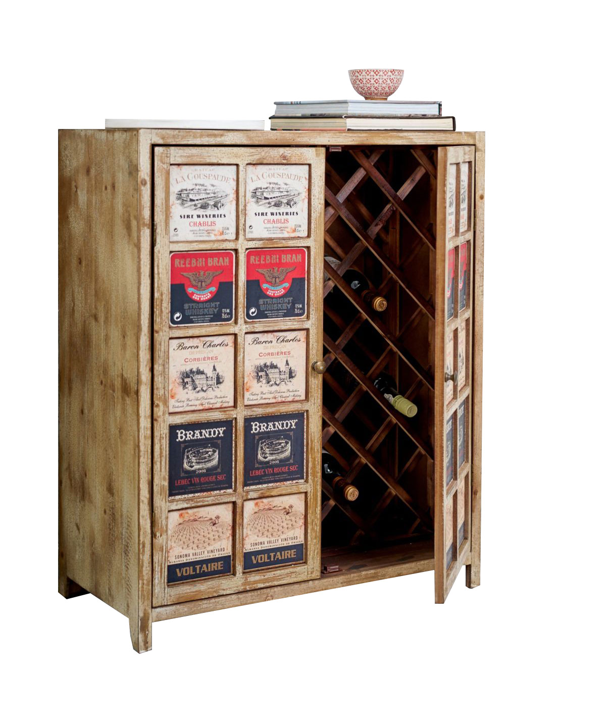 weinschrank kommode im used look von miavilla. Black Bedroom Furniture Sets. Home Design Ideas