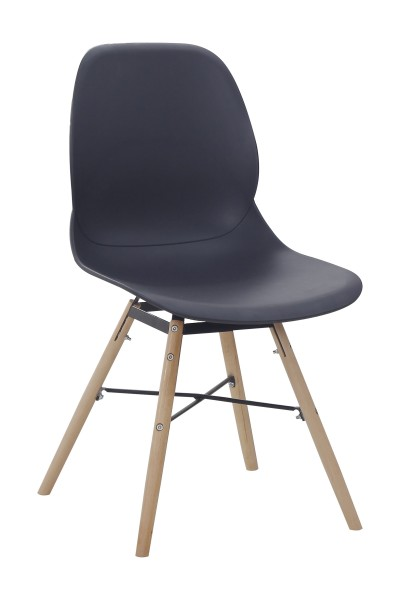 Stuhl Amy 110 2er-Set Schwarz