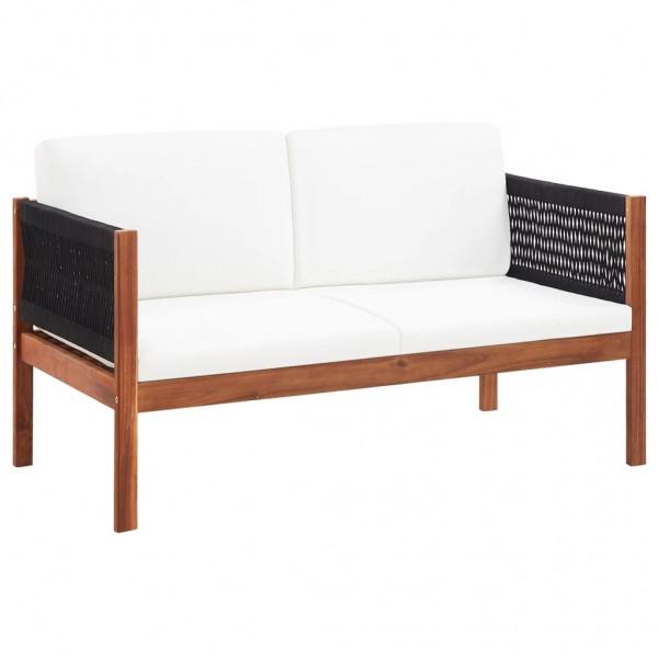 Gartensofa 2-Sitzer Massivholz Akazie