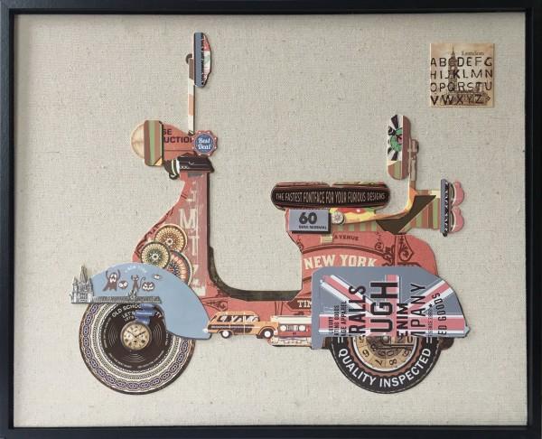 Papier Wandbild Motorroller 42cm x 52cm