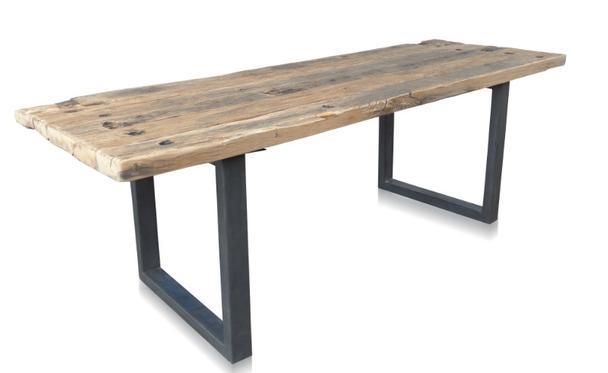 esstisch massivholz industrial chic look. Black Bedroom Furniture Sets. Home Design Ideas