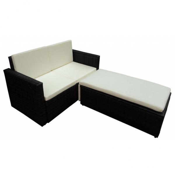 Rattan Möbel schwarz VARIABEL