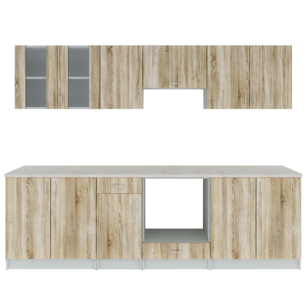 Deluxe Einbauküche mit Backofen Küchenzeile 260 cm   Einbauküchen ...