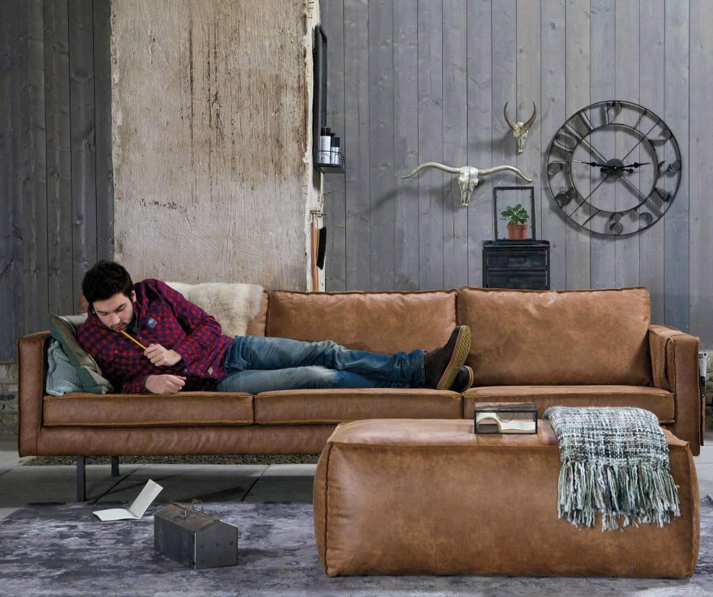 bepurehome sofa 3 sitzer aus leder ledercouch. Black Bedroom Furniture Sets. Home Design Ideas