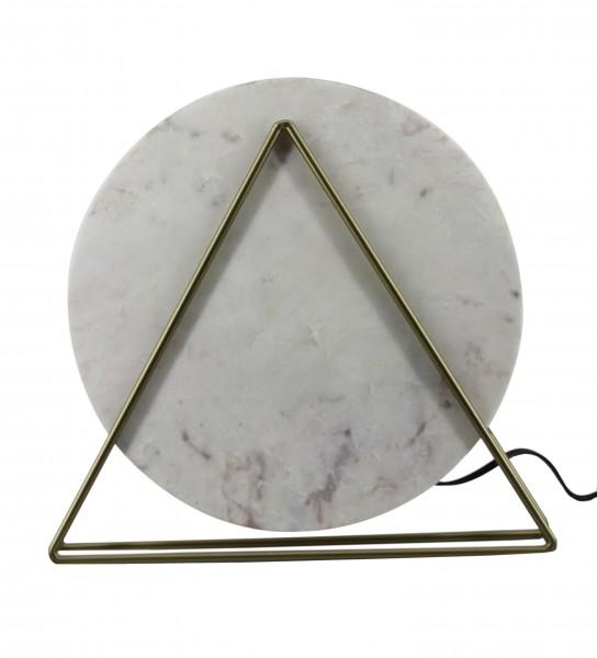 Tischlampe Carmie 487 Marmor / Weiß