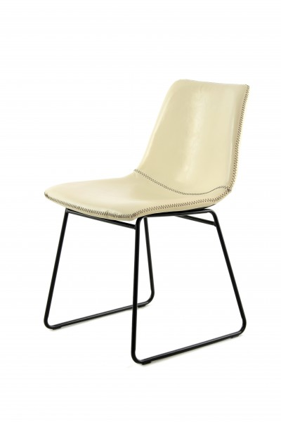 Stuhl Caila 110 2er-Set Weiß / Creme / Creme
