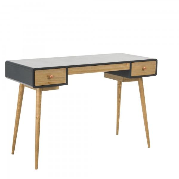 Schreibtisch Skandinavischer-Look mit Kupfer Knöpfen