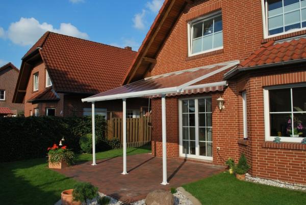 FERIA Terrassenüberdachung 300x1276 cm (TxB), Carport, Terrassendach - weiß