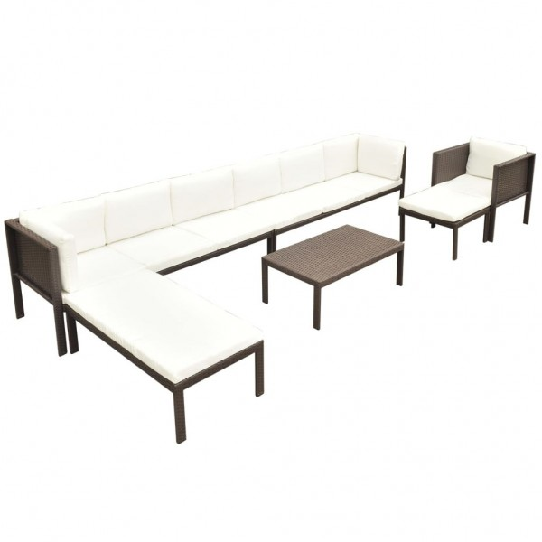 Garten-Lounge-Set Poly Rattan