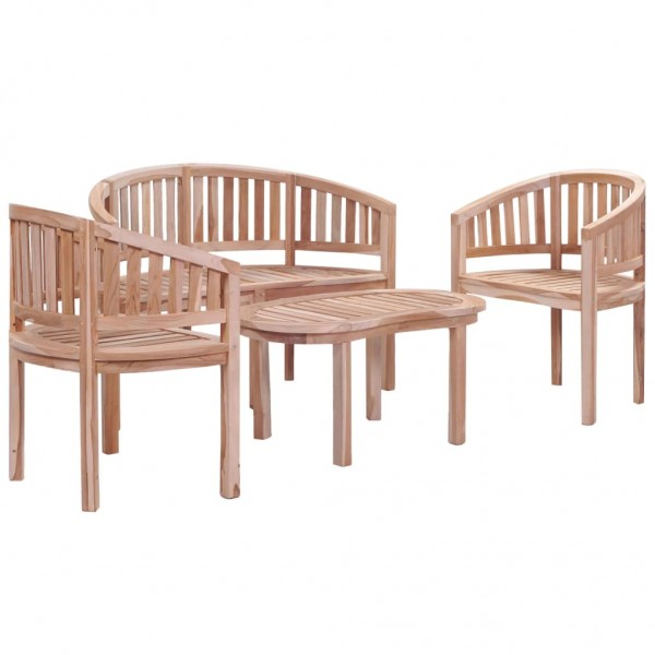 Garten-Lounge-Set Teak Massiv