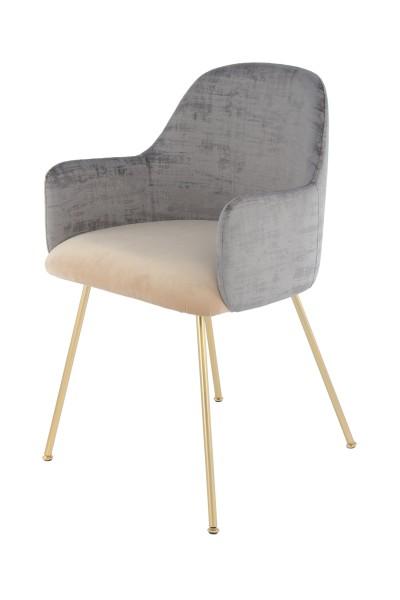 Stuhl Richard 525 Grau / Beige