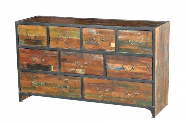 Shabby Chic Möbel Anrichte Kommode aus Holz und Eisen