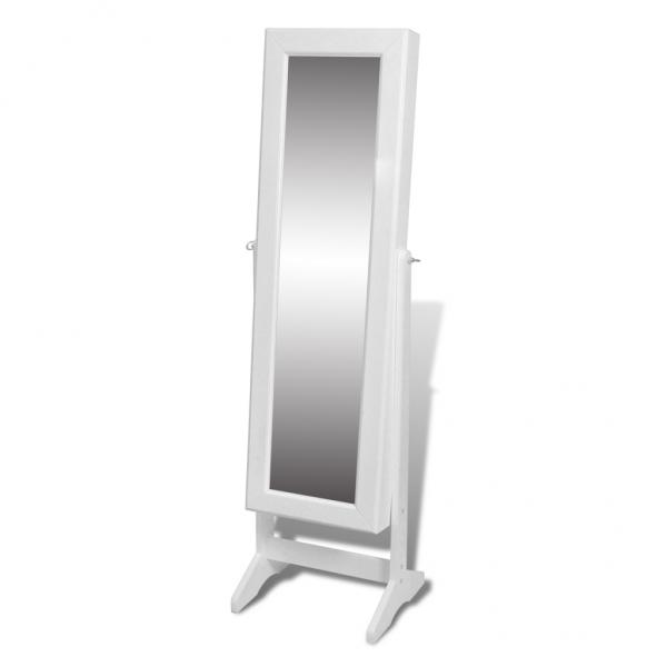 Spiegelschrank Schmuck Schrank weiß Standspiegel