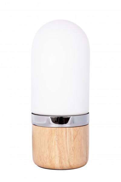 Tischlampe Ganro 400 Weiß / Holz