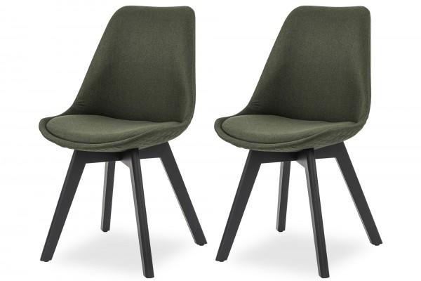 Stuhl 2er Set grün Textil