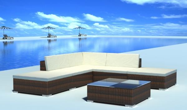gartenlounge rattan set gartenm bel versandkostenfrei. Black Bedroom Furniture Sets. Home Design Ideas
