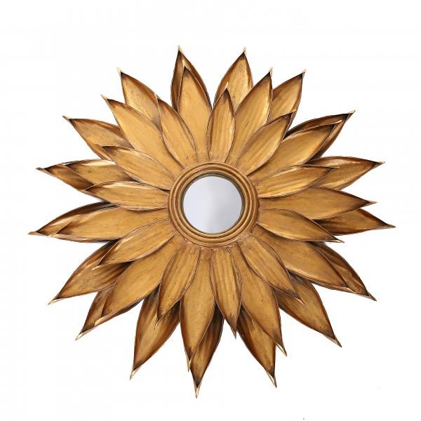 Metall Wandspiegel Lidia 91-N Gold