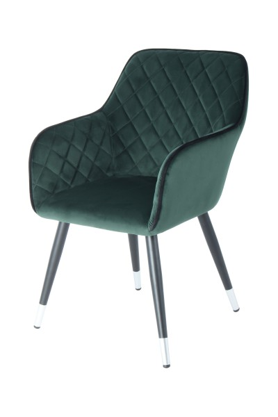 Stuhl Amino 625 Dunkelgrün / Schwarz