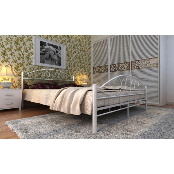 Bett Doppelbett mit Lattenrost 140x200cm weiß