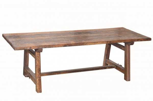 Indischer Industrial Tisch Esstisch Vintage Möbel mit A-Frame