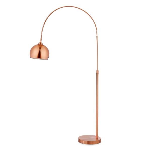 Stehleuchte Bogenlampe Metall Kupfer-Look