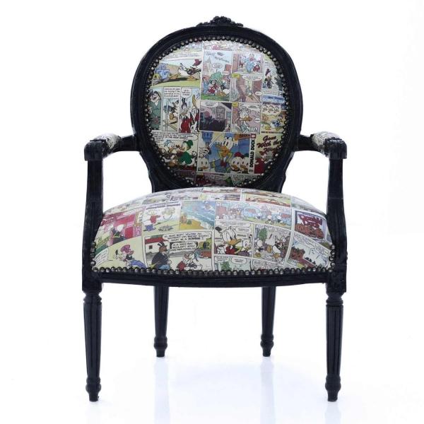 Französischer Louis XVI-Stil-Sessel Comic