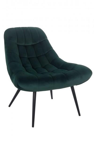 Sessel XXL Samt grün Metall schwarz
