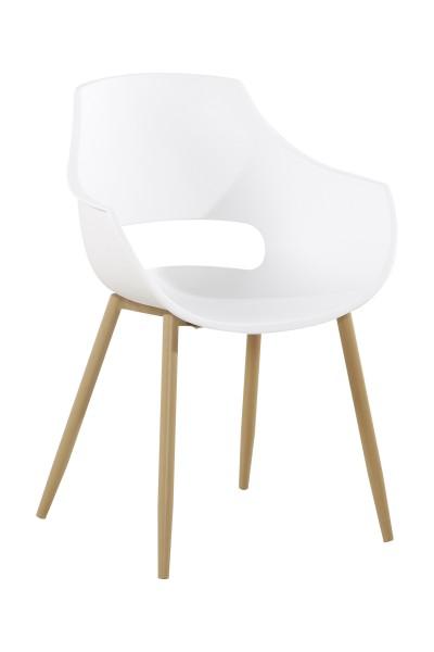Stuhl Alice 110 2er-Set Weiß