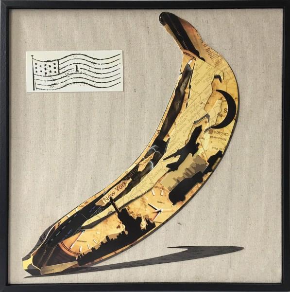 Papier Wandbild Banana 42cm x 42cm
