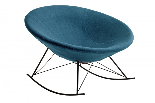 Schaukelstuhl blau Webstoff