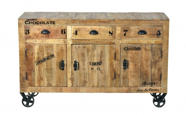 "Industrial Möbel Sideboard - Kommode aus Massivholz ""Rustic"""