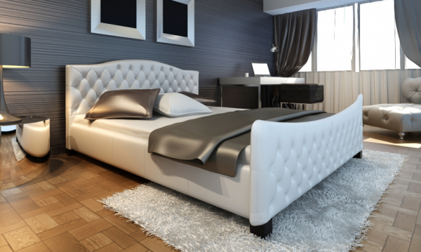 Bett weiß 180cm mit Matratze