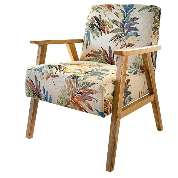 Vintage Sessel mit Print