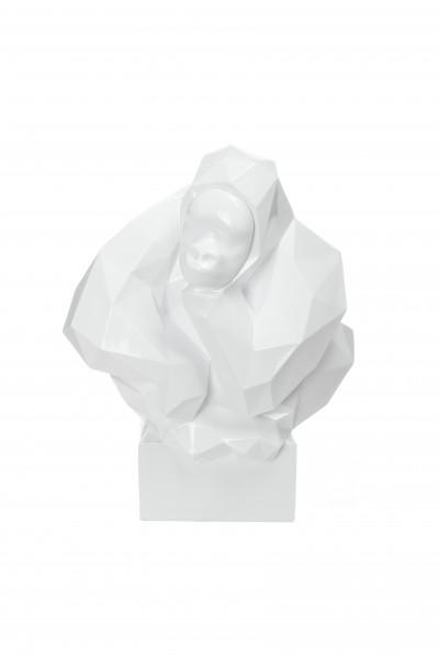 Skulptur Kenya 210 Weiß