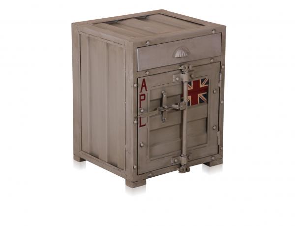 Industrial Chic Eisen Nachtschrank Nachttisch Container Look