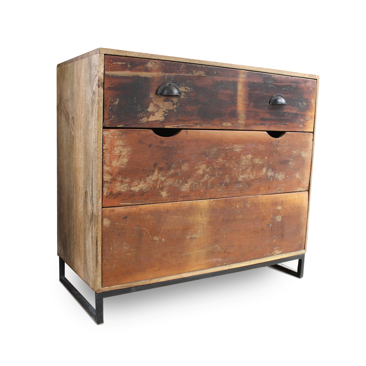 kommode aus sheeshamholz massivholz shabby chic kommoden industrial shabby moebeldeal. Black Bedroom Furniture Sets. Home Design Ideas