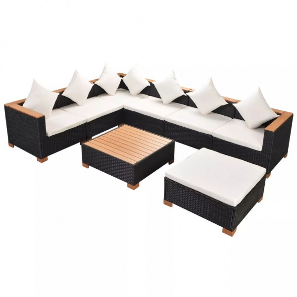 Garten Lounge Set Poly Rattan