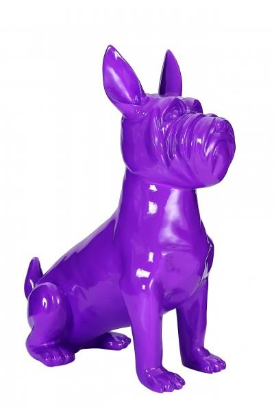 Skulptur Terrier II 21-J Lila