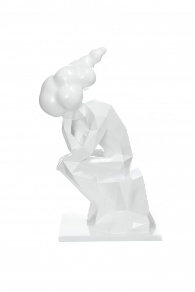 Skulptur Kenya 110 Weiß