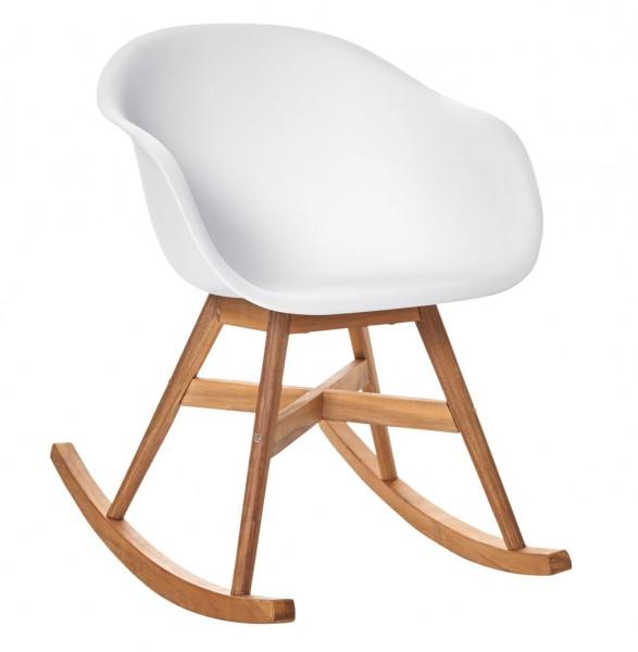 Schaukelstuhl Weiß Skandinavischer Look Sitzmöbel Möbel