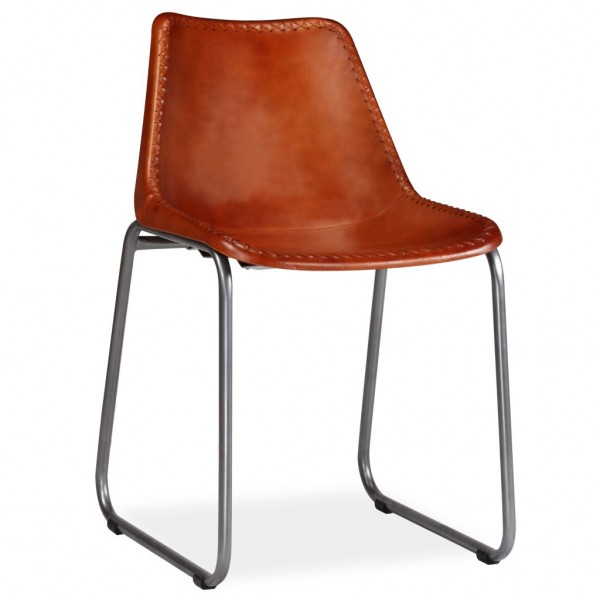 2 x Esszimmer Stuhl Schalenstuhl Leder
