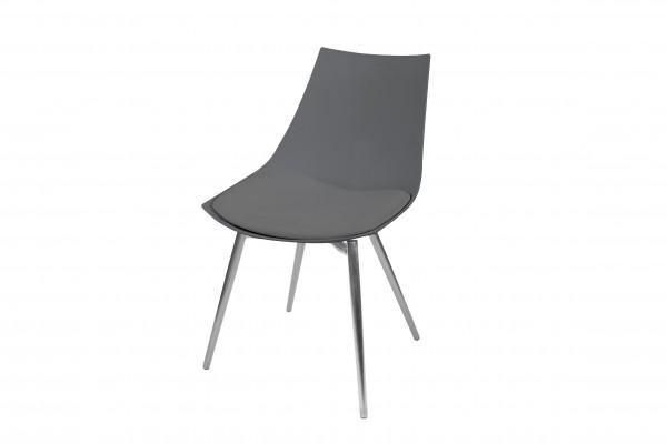 Stuhl Dakota 310 4er-Set Grau / Chrom