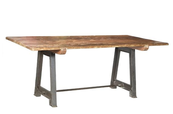 massivholz esstisch industrial design. Black Bedroom Furniture Sets. Home Design Ideas