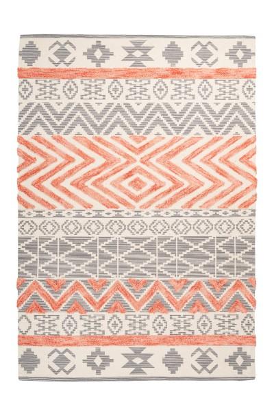 Teppich Ethnie 100 Grau / Apricot