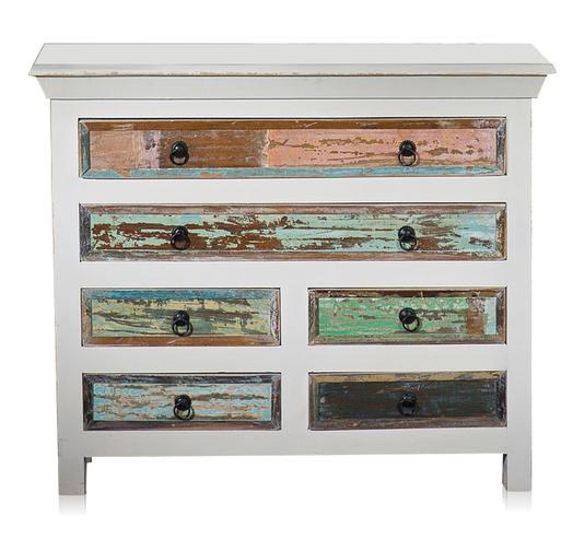 Shabby Chic Design Schubladenschrank altes Holz