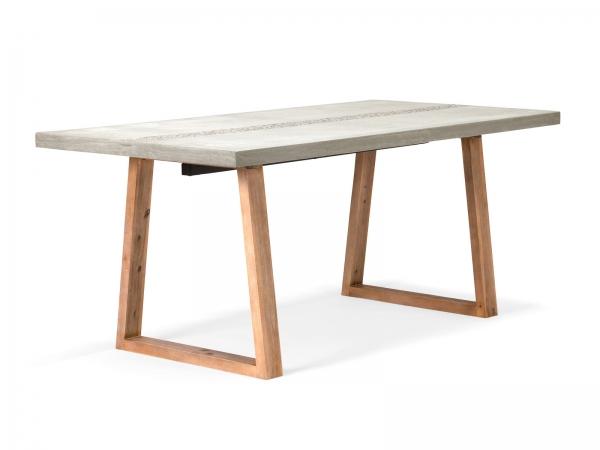 Betontisch Esstisch aus Beton und Akazie