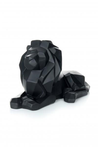 Skulptur Lion 110 Schwarz
