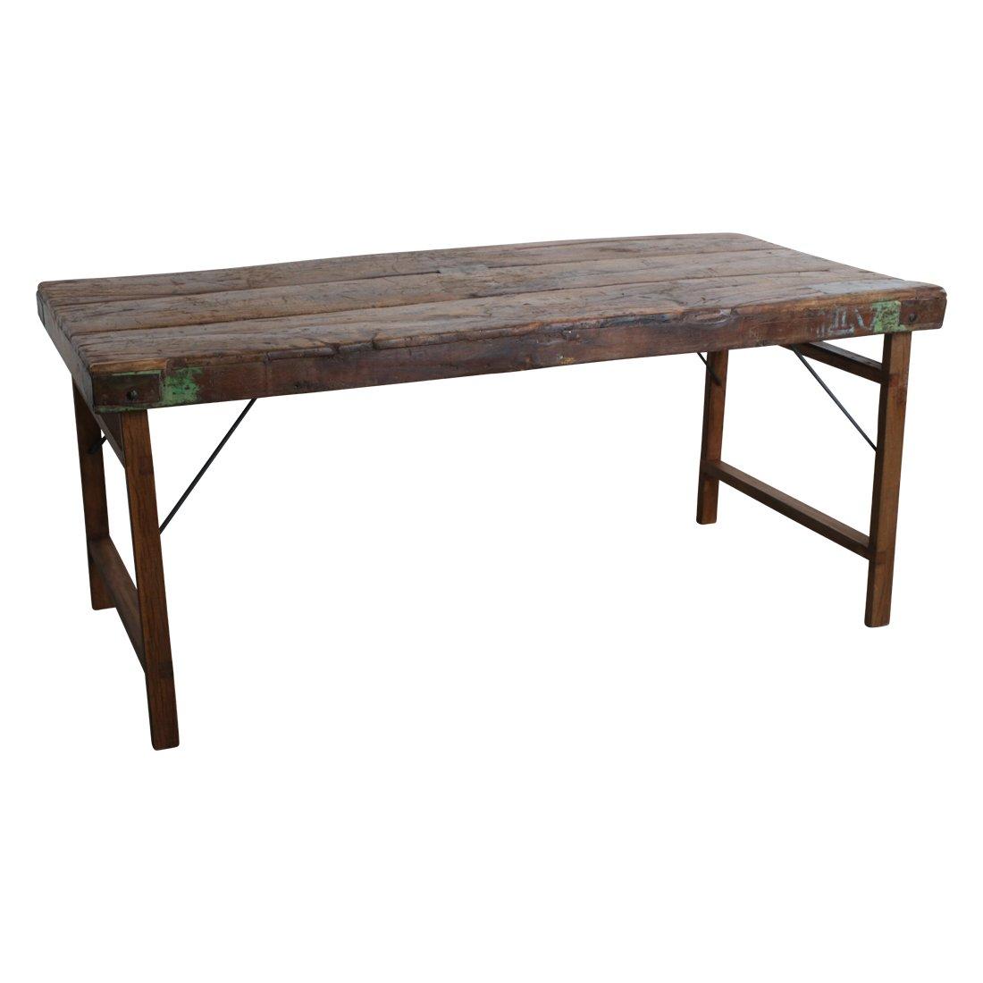 Vintage Esstisch Aus Holz Klappbar