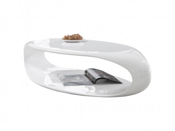 Couchtisch 120x60x30 cm weiß Fiberglas