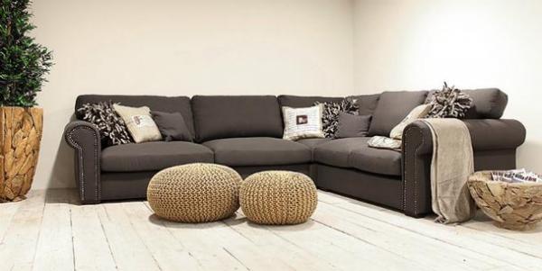 Eckcouch Sofa L-Form Grau 2,5 Sitzer